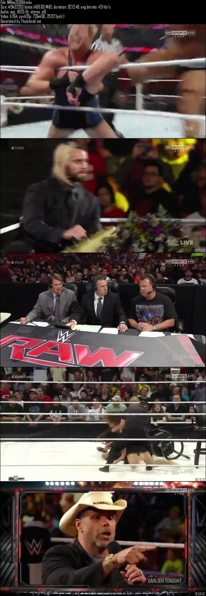 WWE Monday Night Raw 25th August (2014)