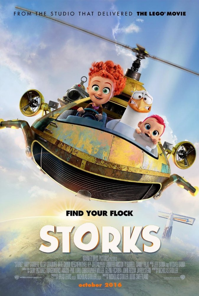 Storks (2016) English Movie 900MB BRrip 720p