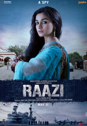 Raazi 2018 Hindi 480p WEB-DL 300MB